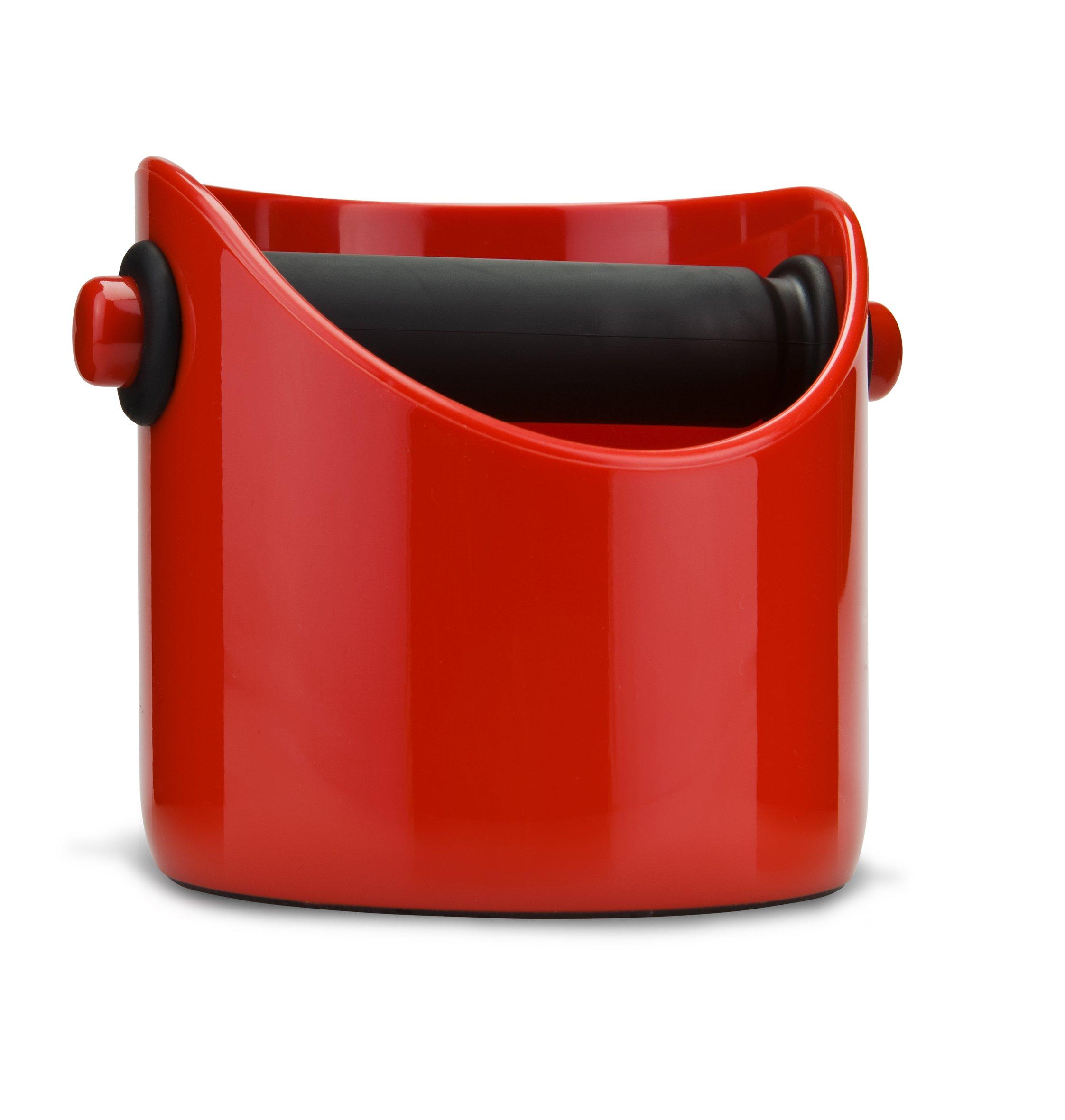 Dreamfarm Grindenstein - Coffee Grind Knock Box and Espresso Dump Bin (Red) by Dreamfarm