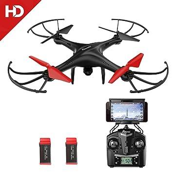 Potensic Drone con Cámara 720P HD Camera WiFi FPV 2.4Ghz Drone ...