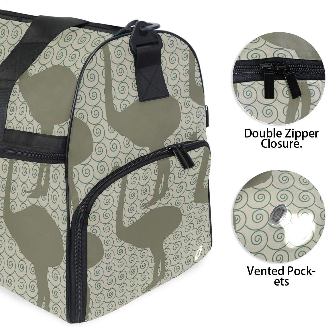 MALPLENA Extinct Animals Inspired Fabric Designs Packable Duffle Bag For Men Women Tear Resistant Sports Duffle