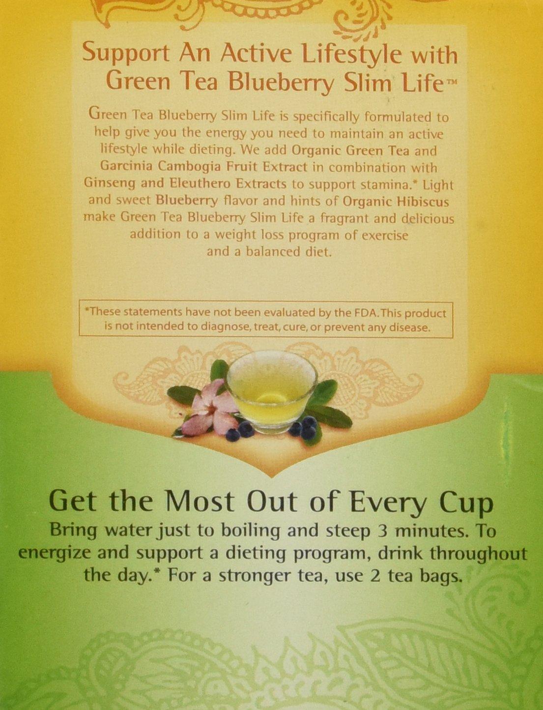 Amazon Com Yogi Tea Green Tea Blueberry Slim 1 12 Ounce