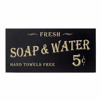 Amazon.com: Vintage Bathroom Decor Soap Water Sign - Farmhouse ...