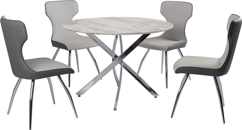 Milan Shrada Dining Table White//Gray