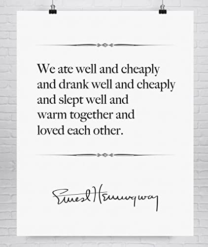 Amazoncom Ernest Hemingway Fine Art Love Quote Print First