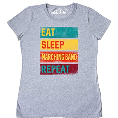 e9d9b17bc2 inktastic - Eat Sleep Marching Band Women's T-Shirt Small Athletic Heather  33bd7