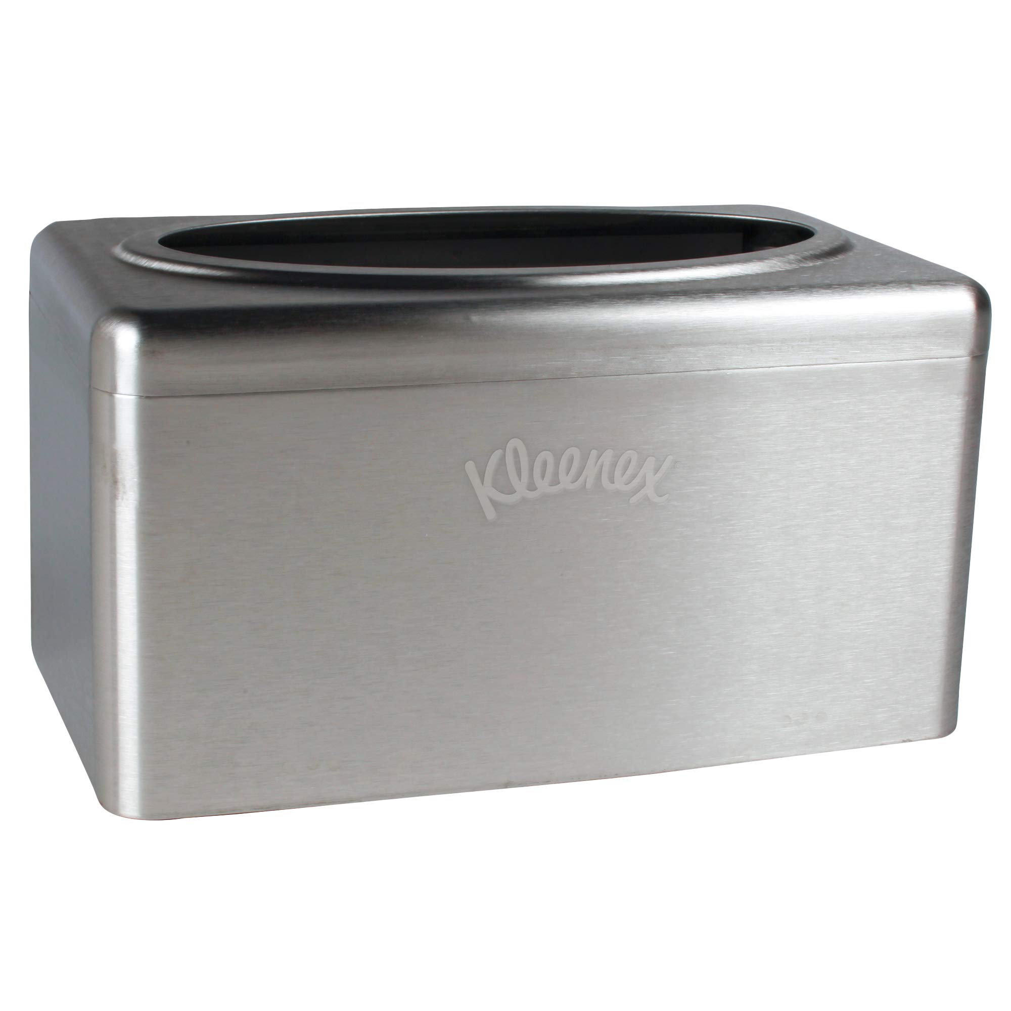 Kleenex Stainless Steel Countertop Box Towel Cover (09924), for Kleenex POP-UP Box Hand Towels, 2 per Case