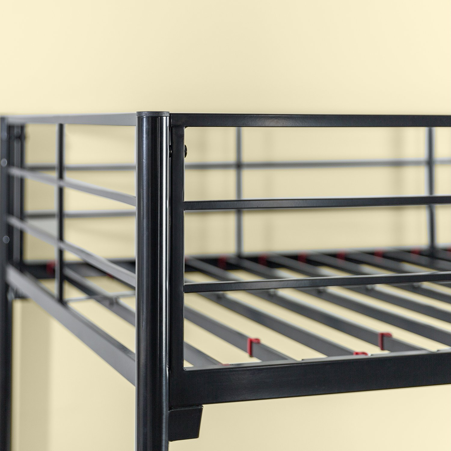 Zinus Hani Easy Assembly Quick Lock Metal Bunk Bed Quick To Assemble in Under an Hour Twin over Full