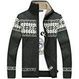 GKKXUE Chaqueta de Punto del suéter de los Hombres Chaqueta de Punto del ( Color   2d4bc131e112