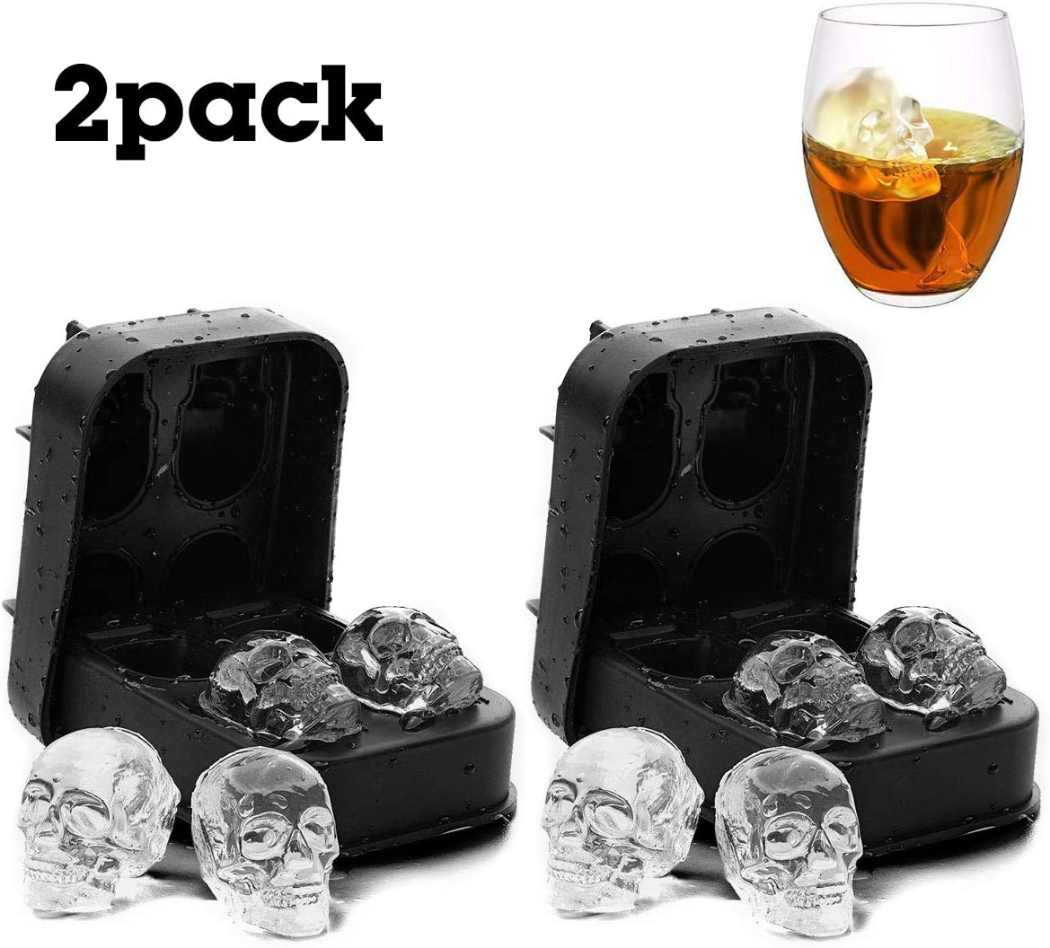 3D Skull Ice Mold-2Pack