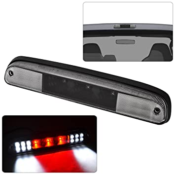 Dual Row LED High Mount Stop Light Clear Lens 1999-2016 Ford F250 F350 F450 F550 Super Duty NPAUTO LED Third 3rd Brake Light Cargo Lamp Compatible with 1993-2011 Ford Ranger 93-10 Mazda B-Series