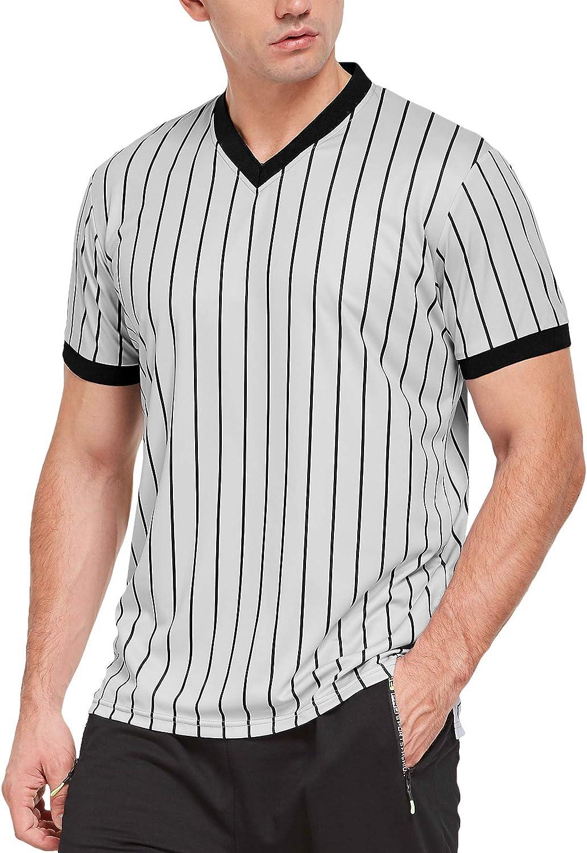 FitsT4 Short Sleeve Wrestling Pinstripe Referee Shirt