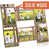 Photo Frame Collage - Large Multiple Picture Frame Displays Six 4x4 or 4x6 Inch - Gift for Family Love & Best Friends