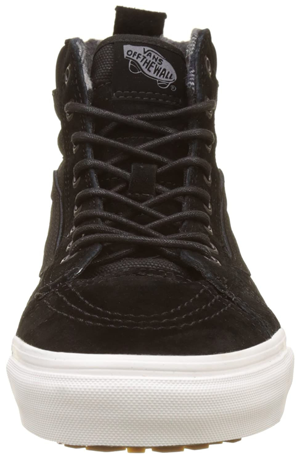Vans Sk8-Hi Unisex Casual High-Top Skate Shoes, Comfortable and Durable in Signature Waffle Rubber Sole B01N7HHQ9L 10 D(M) US|Black