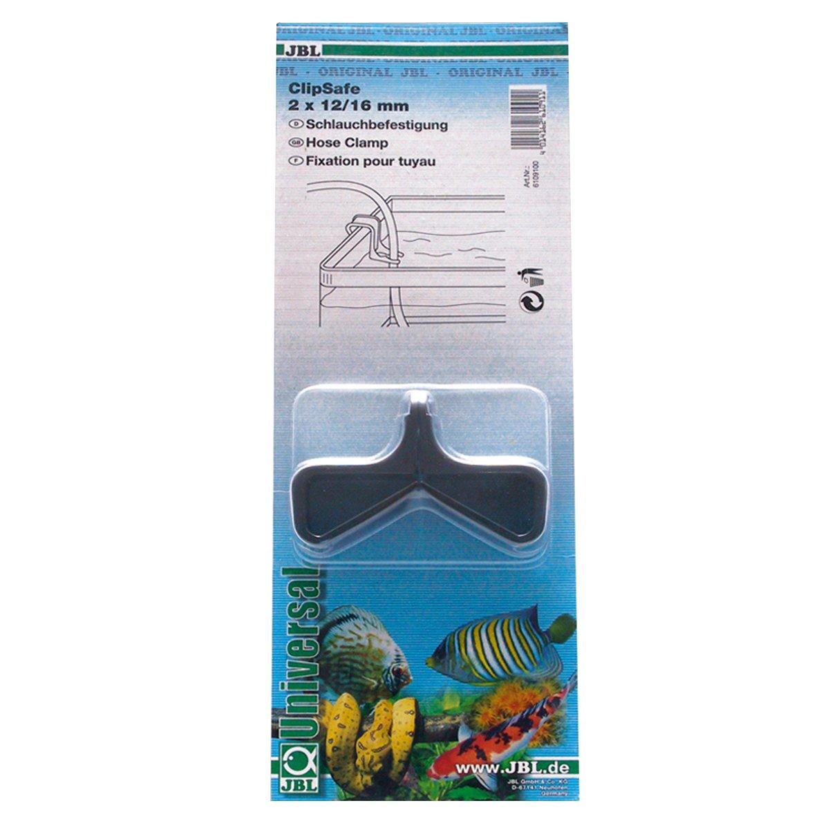 JBL ClipSafe (2 pce) (Fixation tuyau 12-16 mm), Clips de maintien pour tuyaux d\'aquarium de diamètre 12 et 16 mm 6109100