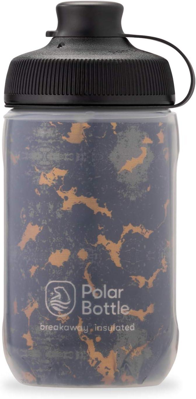 Details about  /Polar 12 oz Breakaway® Muck Insulated Zipper Bike Water Bottle Moss//Desert New