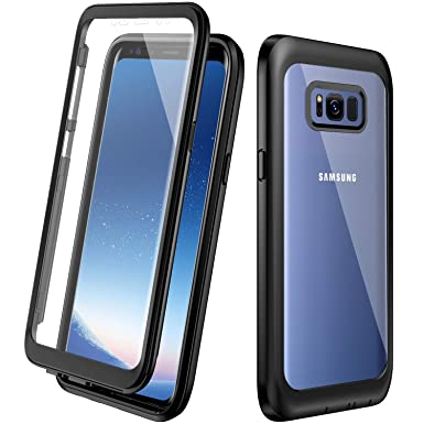 the best attitude 18762 0437f Eonfine Samsung Galaxy S8 Case,Samsung S8 Phone Case Full Body Protective  Cover with Built-in Screen Protector Shockproof Clear Bumper Case for ...