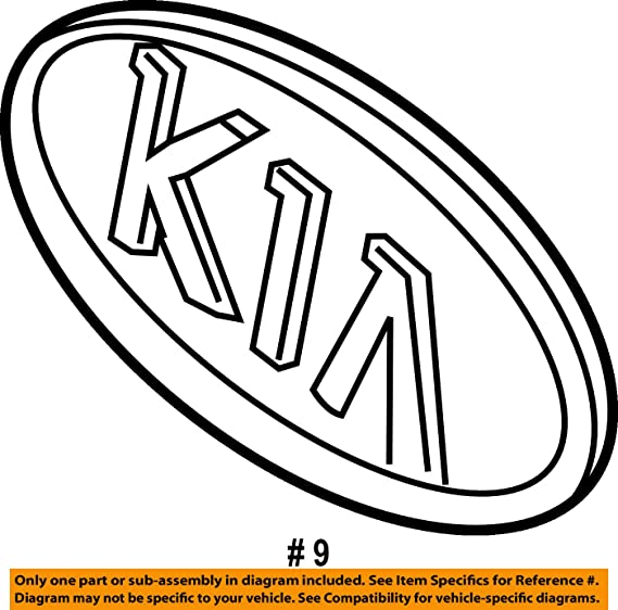 Amazon Com Kia Genuine 86353 1f010 Logo Assembly Automotive