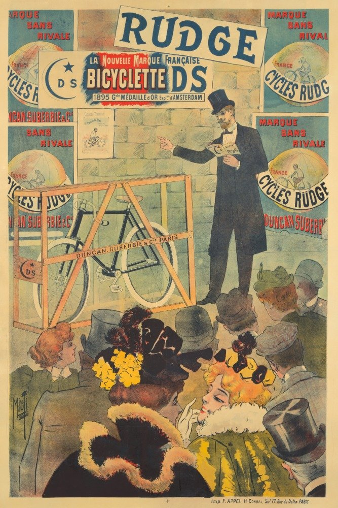 Rudge Vintage Poster (artist: Misti) France c. 1895 (9x12 Art Print, Wall Decor Travel Poster) Lantern Press LANT-72764-9x12