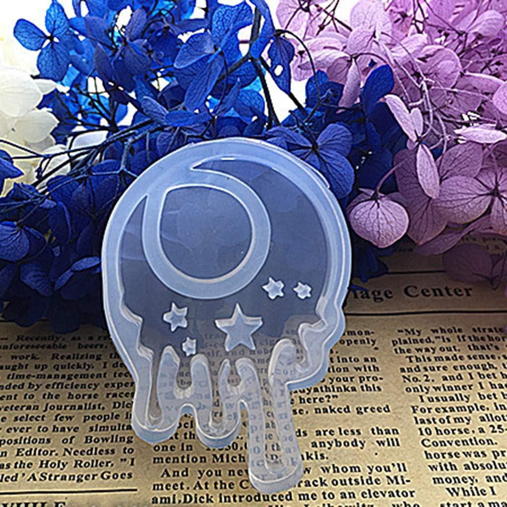 Fengyuanhong 1pcs de la Estrella/moldes del Molde Flor de la Luna de silicio/Molde del Molde de Resina de epoxy de la joyería Pendiente de DIY Que Hace