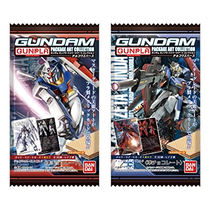 Gundam Gunpla Package Art Collection Chocolate Wafer 20Pack Box (Candy Toy)
