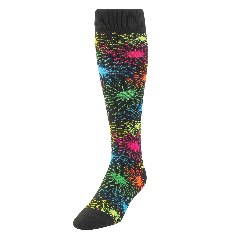TCK Sports Krazisox Fireworks Socks (Black, Large)
