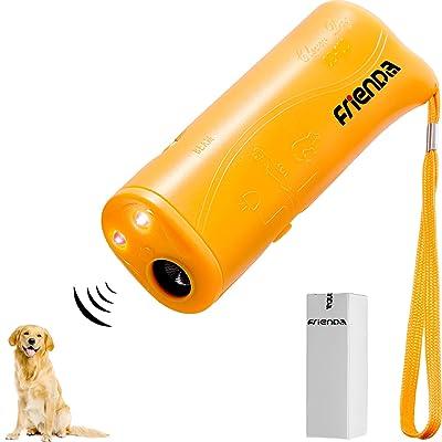 Frienda LED Ultrasonic Dog Repeller and Trainer Device 3 in 1 Anti Barking Stop Bark Handheld Dog Training Device