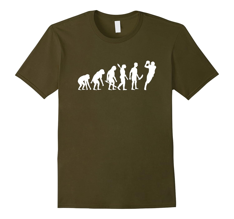 f764e1d4 American Football Evolution T-Shirt Funny Football Tee-TH - TEEHELEN