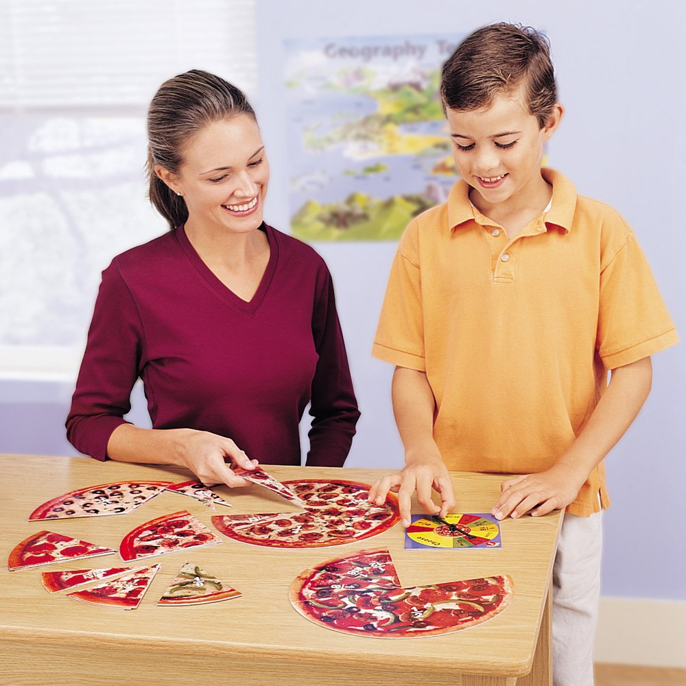 pizza fractions for kids math centers stations