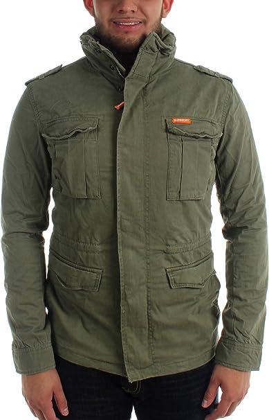 Superdry Herren Rookie Military Jacket, Small, Duty Green