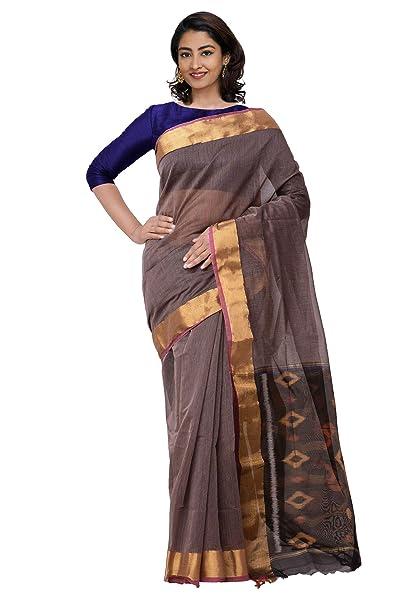 Unnati Silks Women Pure Handloom Coimbatore Cotton Silk Saree with