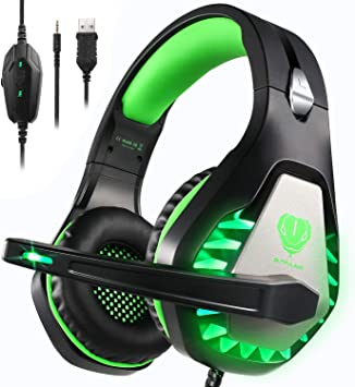 Auriculares Gaming PS4,Cascos Gaming de Estéreo con Micrófono Bass ...