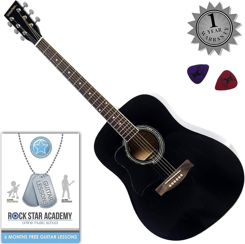 Stretton Payne Dreadnought Guitarra Acústica para Zurdos con ...