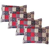 Amrange Cotton 4 Piece Set Designer Pillow Covers,Size-17'' x 27''