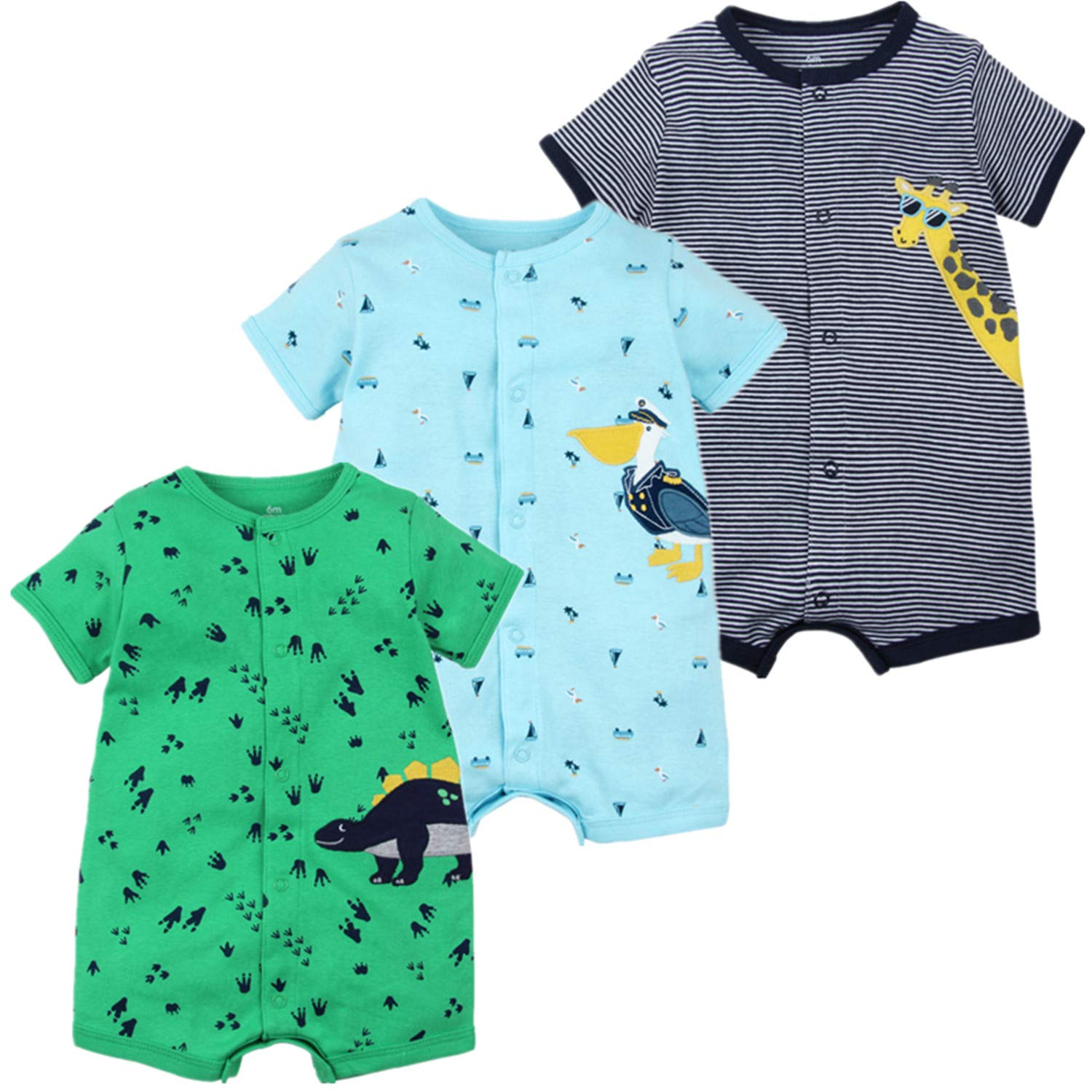 Night Owl Romper Baby Boys Girls Bodysuit One-Piece Jumpsuit Outfits for Baby Black