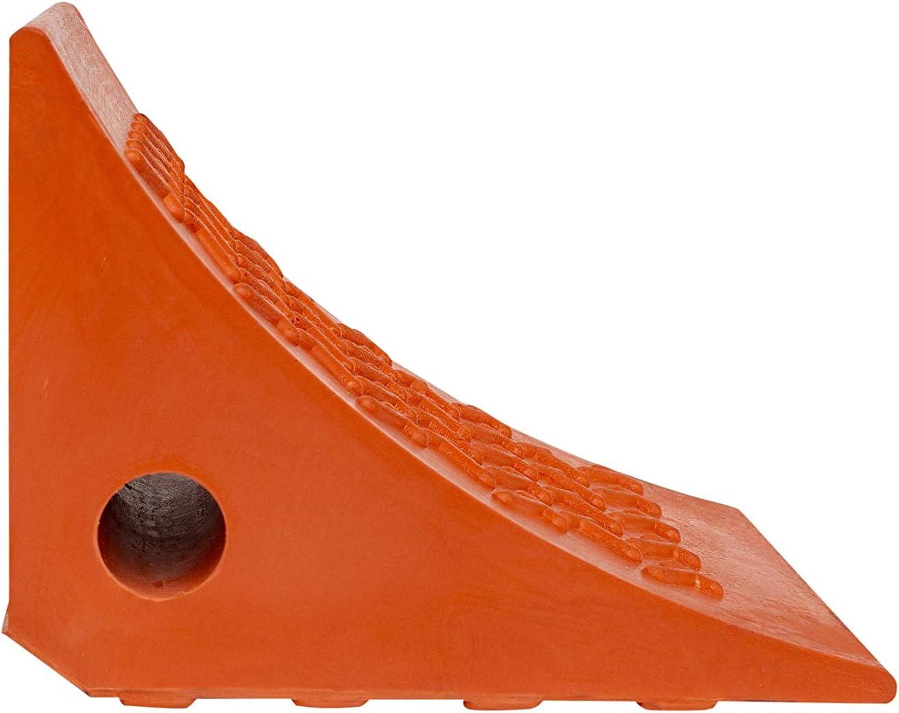 AME 15309 Urethane Wheel Chock Orange 200mm x 178mm x 150mm
