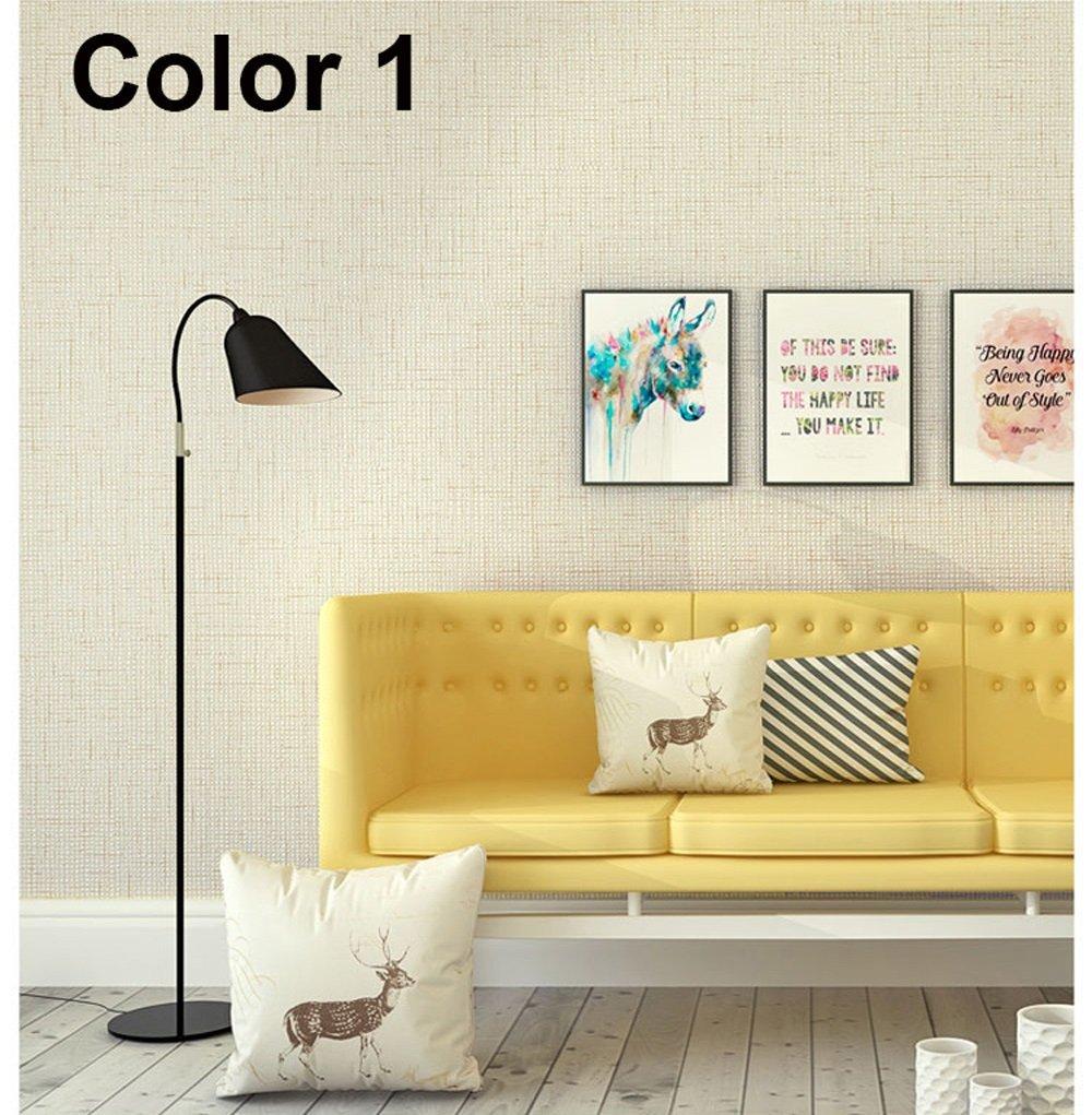 Amazon.com: Wxl Pure color pigmented linen wallpaper simple modern ...