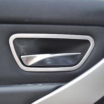 4 x 304 Acero inoxidable mango de coche interior puerta marco embellecedor para 3 Series F30 2013 - 2017 accesorios: Amazon.es: Coche y moto