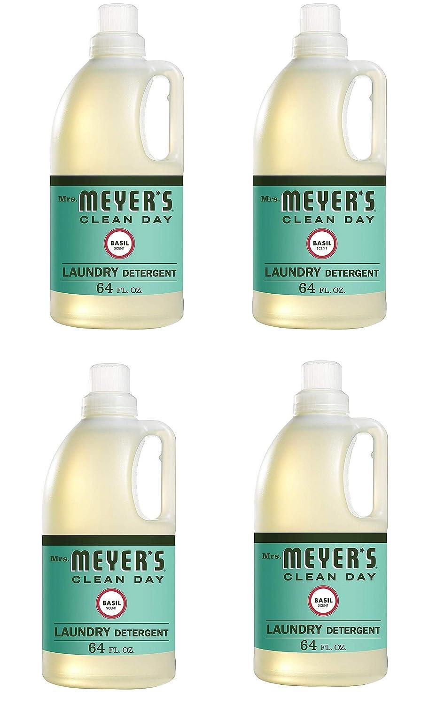 Mrs. Meyers 洗濯洗剤 バジル 64液量オンス B07QF9XZN4  4 Pack (64 fl oz)