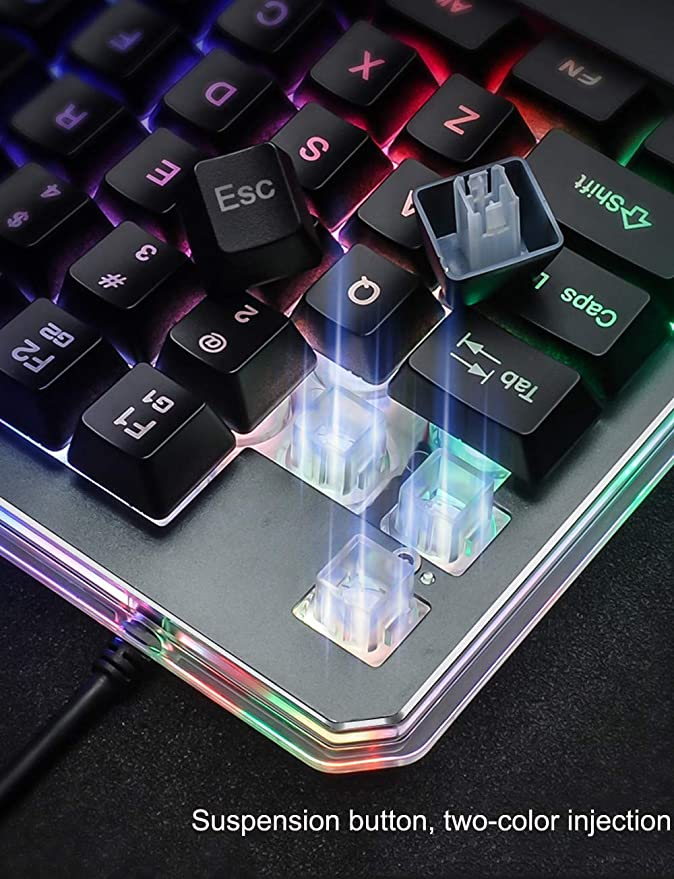 G30 Wired Gaming Keypad with LED Backlight 35 Keys One-Handed Membrane Keyboard HHmei 7Keys G30 Mechanical Feel One-Handed Keyboard to Eat Chicken Artifact