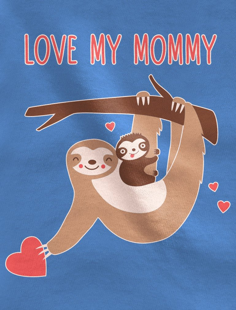 Love My Mommy Baby Outfit Cute Sloth Mother's Day Baby Bodysuit