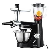 Robot de cocina profesional con accesorios, Robot de cocina pastelero multifunción con accesorios.