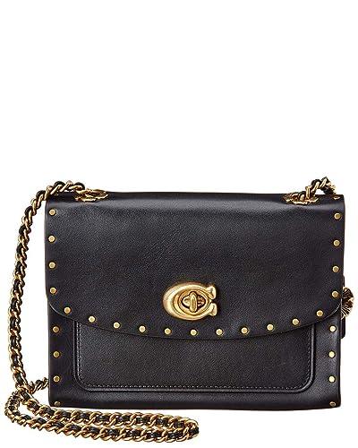 44ba47b01 COACH Women's Parker 18 With Rivets B4/Black One Size: Handbags: Amazon.com
