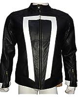 Urbanoutfitters Ghost Rider Nicolas Cage Robbie Reyes Men's Black Leather Jacket