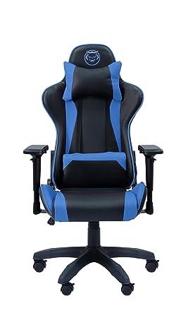 Qware QW gs-350bu Seat Taurus | Silla Gaming y Oficina ergonómico, Reposabrazos,