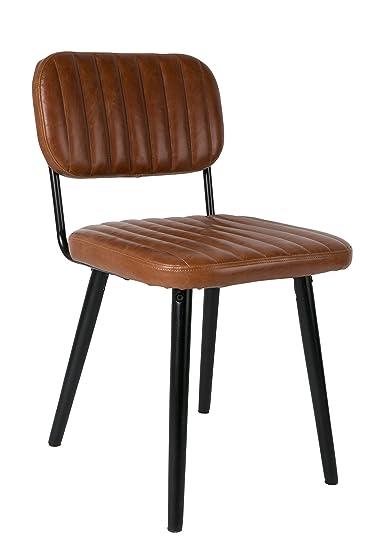 Stuhl Skandinavisches Design stuhl skandinavisches design jake kunstleder braun amazon de