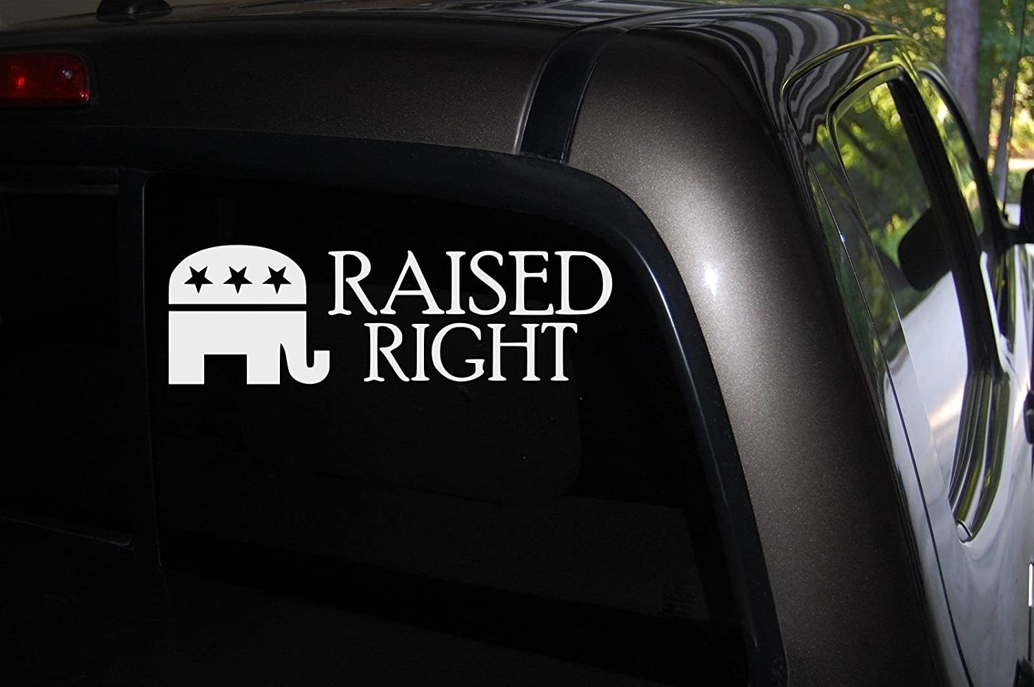 Classy Vinyl Creations Raised Right Car Truck Automotive Window Black or White Decal Bumper Sticker 2.7 H X 8.5 W