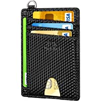 FurArt RFID Blocking Slim Minimalist Wallet with D-Shackle (various)