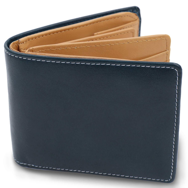 RESPIL 本革 二つ折り財布 カード15枚収納 財布 メンズ 選べる全3色 薄型 2019年モデル