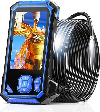 Industrie Endoskop Skybasic 1080p Hd Digitale Endoskop Inspektionskamera Wasserdichte 4 3 Zoll Lcd Schlangenkamera Mit 6 Einstellbaren Led Leuchten Halbstarrem Kabel 32gb Tf Und Werkzeug 16 5 Fuß Auto