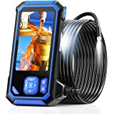 """Industrial Endoscope, SKYBASIC 1080P HD Borescope Inspection Camera 4.3"""" LCD Screen Snake Camera IP67 Waterproof with 32GB Ca"""