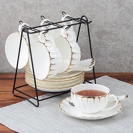 LY-coffee cup Taza de café de Oro Elegante Conjunto de café de cerámica británico